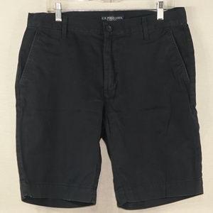 US Polo Assn blue chino shorts EUC 34